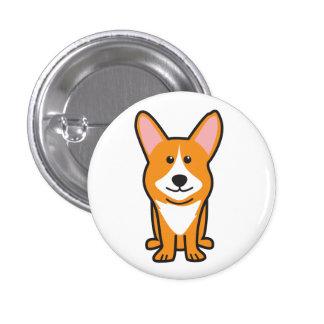 Cardigan Welsh Corgi Dog Cartoon Pin