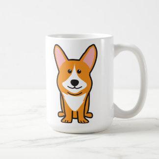 Cardigan Welsh Corgi Dog Cartoon Basic White Mug