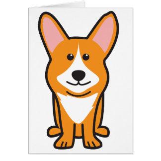 Cardigan Welsh Corgi Dog Cartoon Card