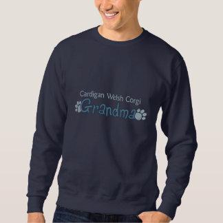 Cardigan Welsh Corgi Grandma Embroidered Sweatshirts