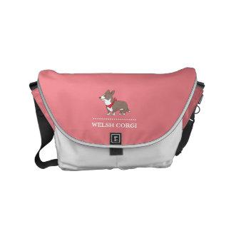cardigan welsh corgi messenger bag