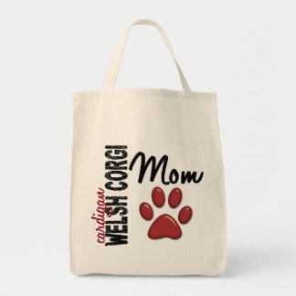 Cardigan Welsh Corgi Mom 2 Grocery Tote Bag