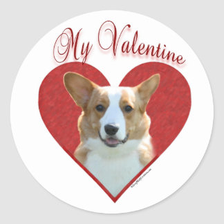 Cardigan Welsh Corgi My Valentine - Sticker