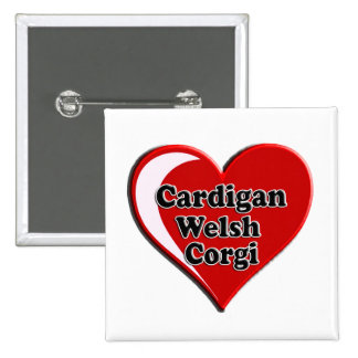 Cardigan Welsh Corgi on Heart for dog lovers Buttons