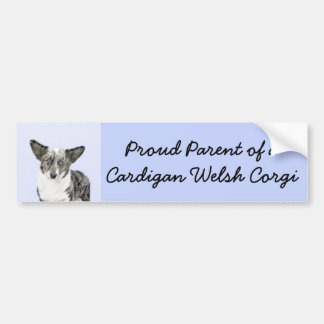 Cardigan Welsh Corgi Painting - Original Dog Art Bumper Sticker