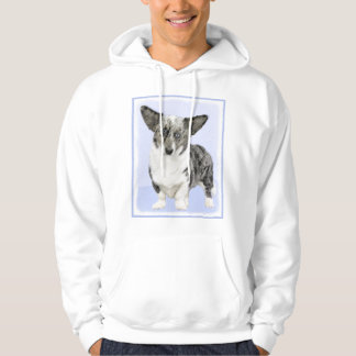 Cardigan Welsh Corgi Painting - Original Dog Art Hoodie
