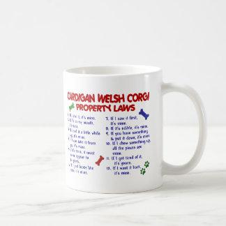 CARDIGAN WELSH CORGI Property Laws 2 Basic White Mug