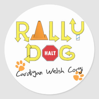 Cardigan Welsh Corgi Rally Dog Classic Round Sticker