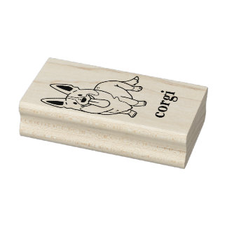 cardigan welsh corgi rubber stamp