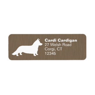 Cardigan Welsh Corgi Silhouette Return Address Label
