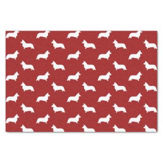 Cardigan Welsh Corgi Silhouettes Pattern Tissue Paper