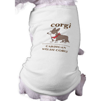 cardigan welsh corgi sleeveless dog shirt