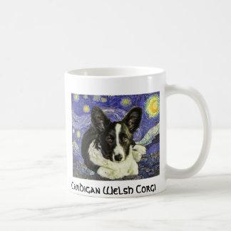 Cardigan Welsh Corgi Van Gogh Starry Night Mug