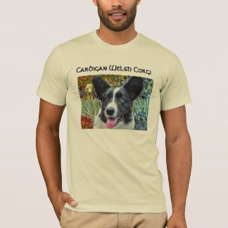 "Cardigan Welsh Corgi VanGogh ""Irises""  TeeShirt T-Shirt"