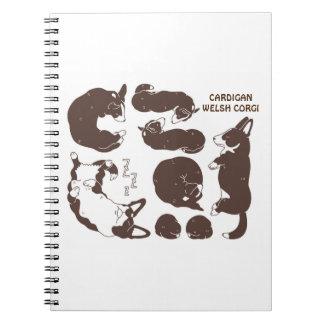 cardigan welsh corgi various sleeping phase note book