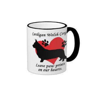 Cardigan Welsh Corgis Leave Paw Prints Mug
