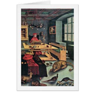 Cardinal Albrecht By Lucas Cranach (I) Card
