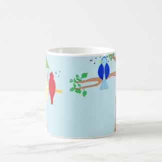 Cardinal and Bluebird Coffee Mug