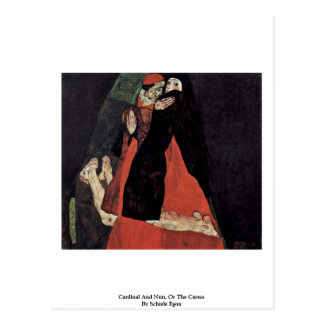Cardinal And Nun, Or The Caress By Schiele Egon Postcard