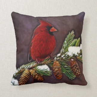 Cardinal and Pinecones Cushion