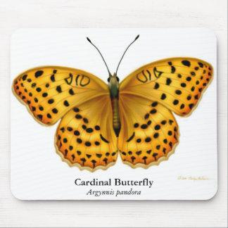 Cardinal Argynnis Fritillary Butterfly Mousepad
