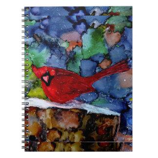 Cardinal At Night Note Book