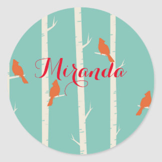 Cardinal & Birch Tree Sticker Sheet