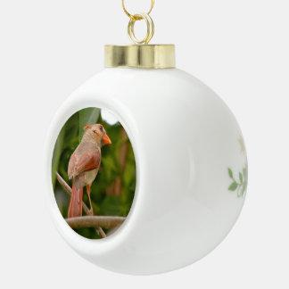Cardinal bird Ball Ornament