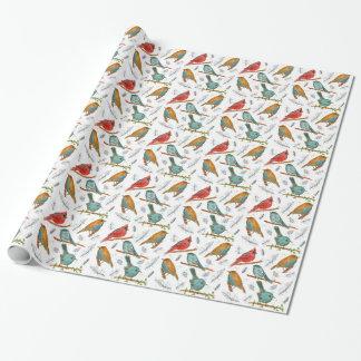 Cardinal Bird Bluebirds Chickadee Gnatcatcher Wrapping Paper