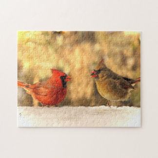Cardinal Birds in Autumn Puzzle