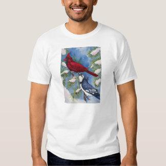 Cardinal & Blue Jay by Toni Donelow Stewart Shirt