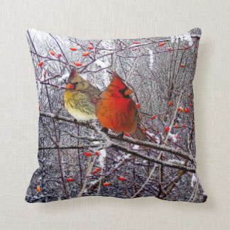 Cardinal Christmas Pillows