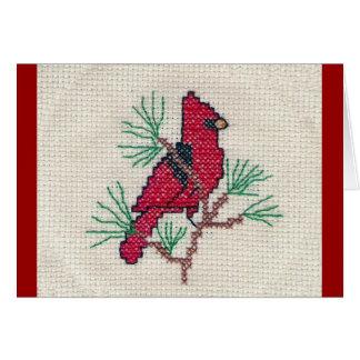 Cardinal Cross Stitch Card