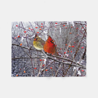 Cardinal Forest Fleece Blanket