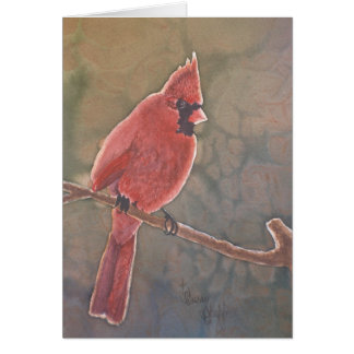 Cardinal in Backlight Note Card