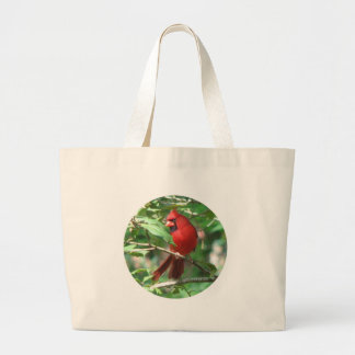 Cardinal in Holly Bag