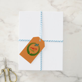 Cardinal In The Middle Of The Christmas Wreath Gift Tags