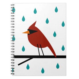 Cardinal in the Rain Notebook
