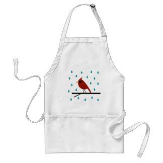 Cardinal in the Rain Standard Apron