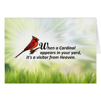 Cardinal in Your Yard Card