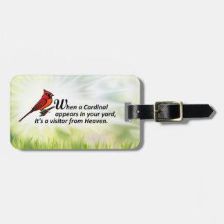 Cardinal in Your Yard Luggage Tag