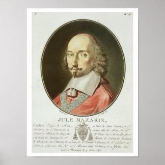 Cardinal Jules Mazarin (1602-61) from 'Portraits d Poster
