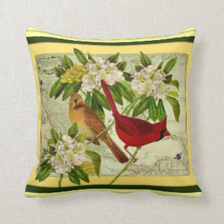 Cardinal & Laurel Cushion