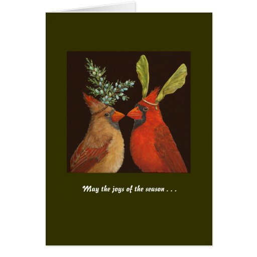Cardinal Love holiday card