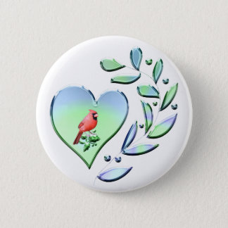Cardinal Lover 6 Cm Round Badge