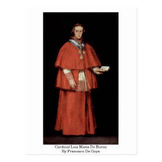 Cardinal Luis Maria De Boron By Francisco De Goya Postcard