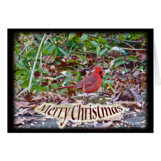 Cardinal Merry Christmas Items Card