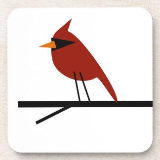 Cardinal on a Limb Beverage Coasters