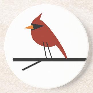 Cardinal on a Limb Drink Coasters