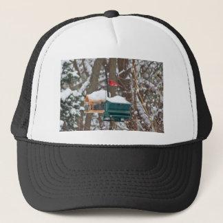 Cardinal on Birdfeeder Trucker Hat